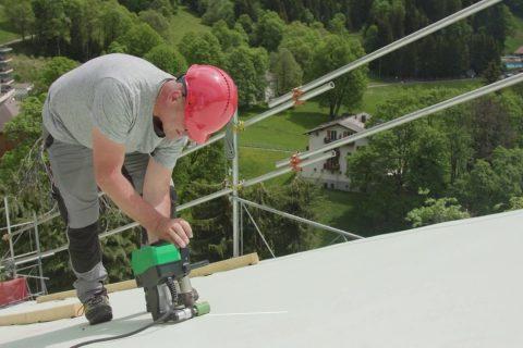 soldadura termoplástica tejados