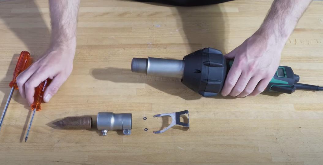 Cómo convertir una pistola de aire caliente en un soldador